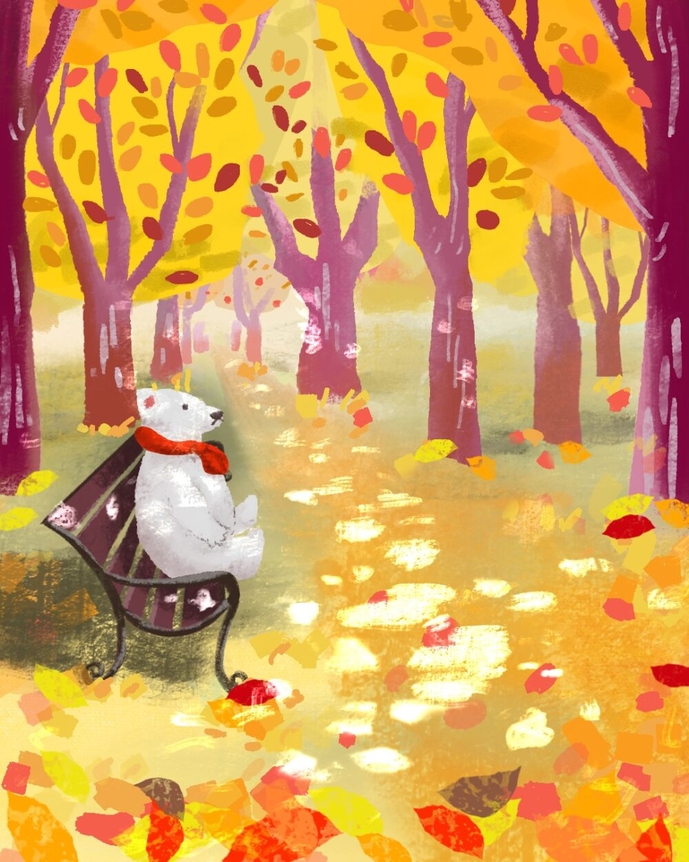 Bears And Autumn Leaves